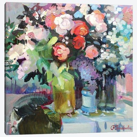 Spring Bouquet Canvas Print #AGG17} by Anastasiia Grygorieva Canvas Art Print
