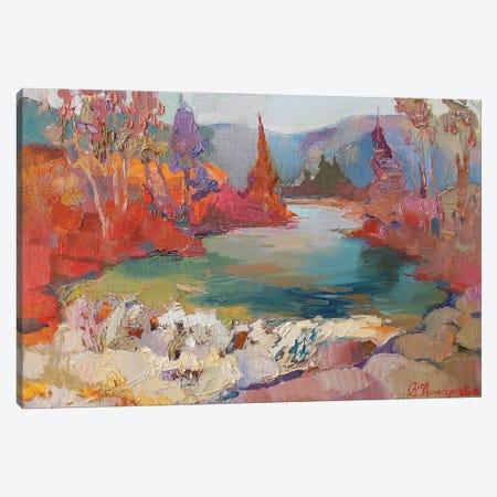 Waterfall In Yaremche Canvas Print #AGG37} by Anastasiia Grygorieva Art Print