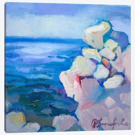 Coast In Budva Canvas Print #AGG58} by Anastasiia Grygorieva Canvas Wall Art