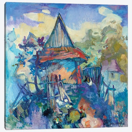 Chicken Settlement Canvas Print #AGG89} by Anastasiia Grygorieva Canvas Art Print
