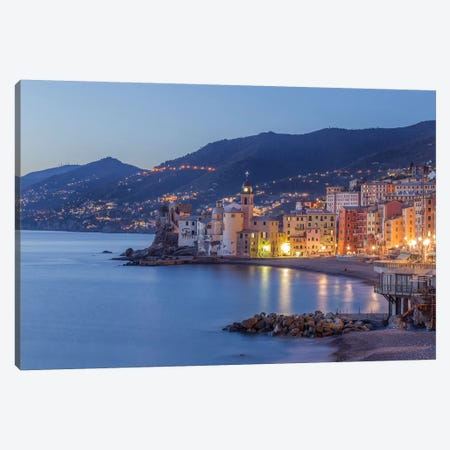 Camogli Blue Hour Canvas Print #AGN12} by Andrea Dall'Agnola Canvas Art Print