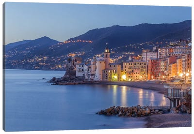 Camogli Blue Hour Canvas Art Print