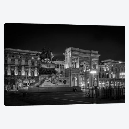 Galleria Vittorio Emanuele II B&W Canvas Print #AGN22} by Andrea Dall'Agnola Canvas Art