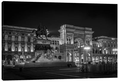 Galleria Vittorio Emanuele II B&W Canvas Art Print