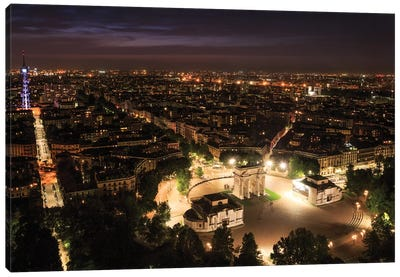 Milan From Above Canvas Art Print