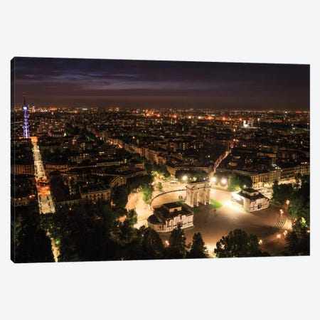 Milan From Above Canvas Print #AGN28} by Andrea Dall'Agnola Canvas Art