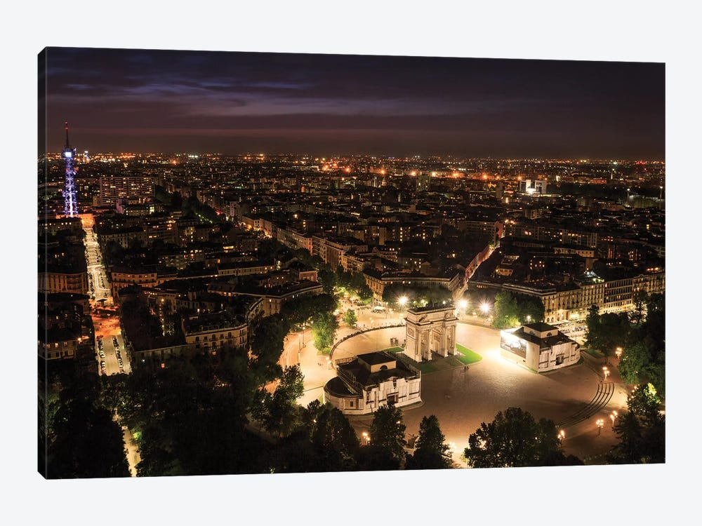 Milan From Above by Andrea Dall'Agnola 1-piece Canvas Art Print