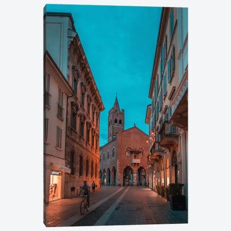 Monza Teal & Orange Canvas Print #AGN31} by Andrea Dall'Agnola Canvas Art Print
