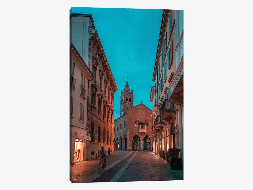 Monza Teal & Orange by Andrea Dall'Agnola 1-piece Canvas Art Print