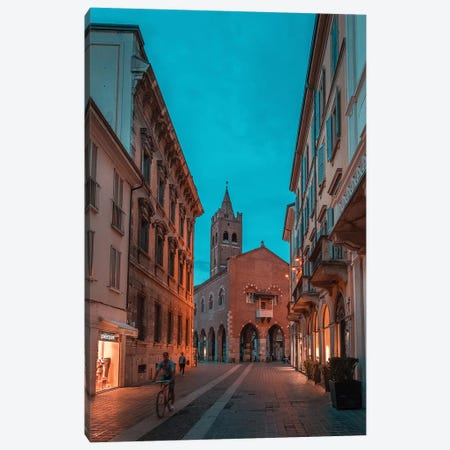 Monza Teal & Orange Canvas Print #AGN31} by Andrea Dall'Agnola Canvas Art Print