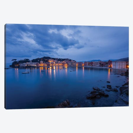 Sestri Blue Hour I Canvas Print #AGN36} by Andrea Dall'Agnola Canvas Artwork