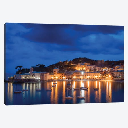 Sestri Blue Hour II Canvas Print #AGN37} by Andrea Dall'Agnola Canvas Art