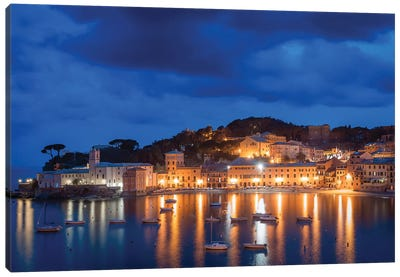 Sestri Blue Hour II Canvas Art Print
