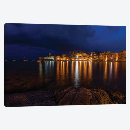 Sestri Night Canvas Print #AGN38} by Andrea Dall'Agnola Art Print