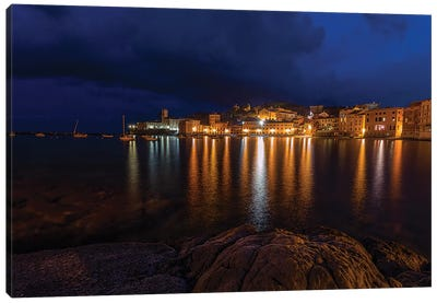 Sestri Night Canvas Art Print