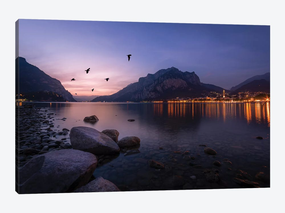 Summer Sunset In Lecco by Andrea Dall'Agnola 1-piece Canvas Art Print