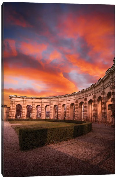 Sunset At Palazzo Te Canvas Art Print