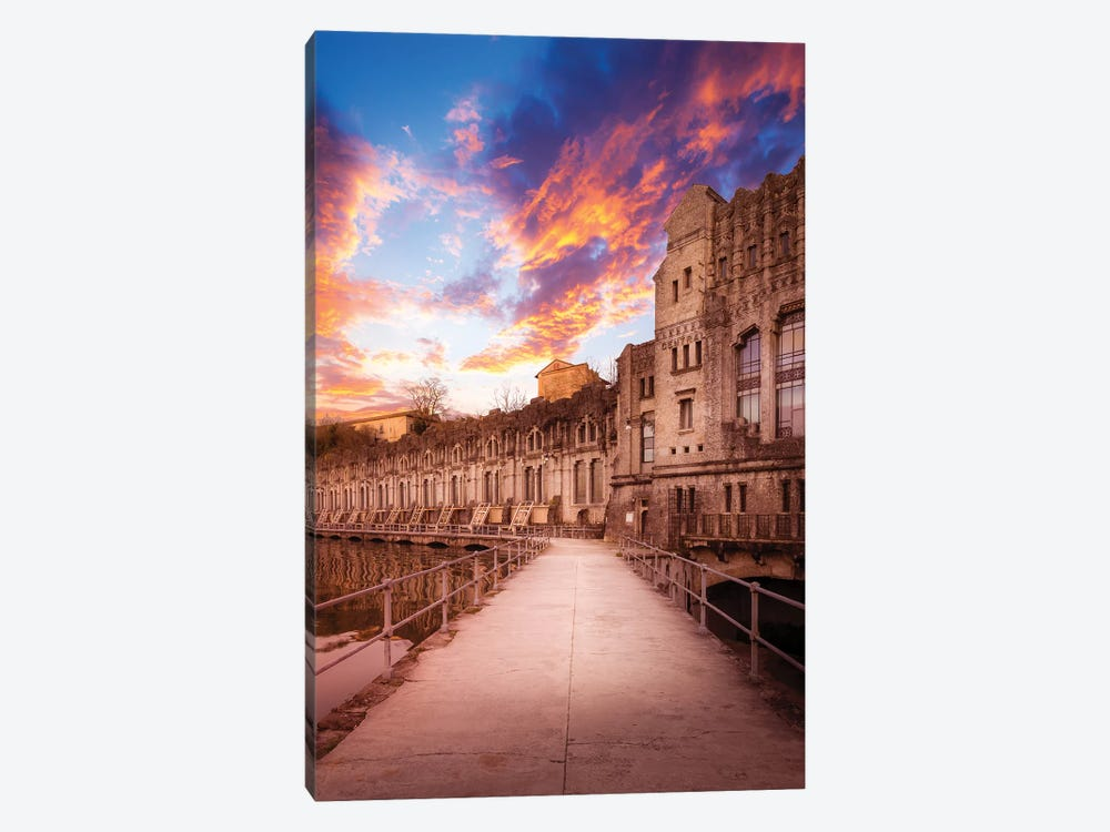 Sunset At The Power Plant by Andrea Dall'Agnola 1-piece Canvas Art Print