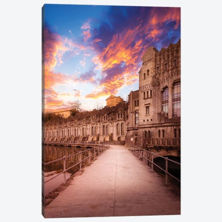 Sunset At The Power Plant Canvas Print #AGN42} by Andrea Dall'Agnola Canvas Artwork