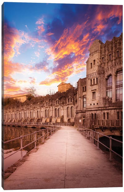 Sunset At The Power Plant Canvas Art Print