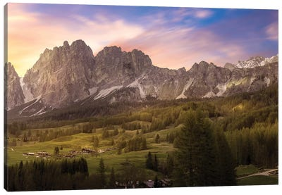 Sunset From Cortina Canvas Art Print