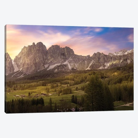 Sunset From Cortina 3-Piece Canvas #AGN43} by Andrea Dall'Agnola Canvas Artwork