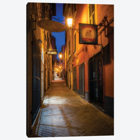 Arenzano Night Canvas Print #AGN4} by Andrea Dall'Agnola Canvas Artwork