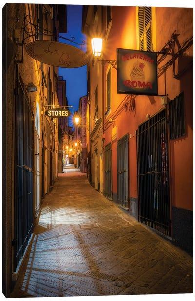Arenzano Night Canvas Art Print