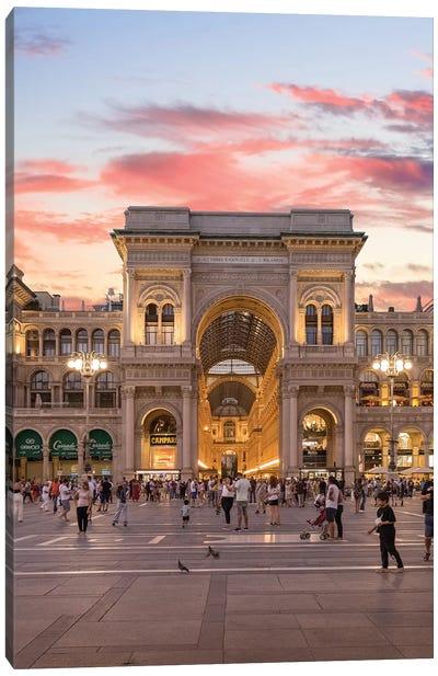 Galleria, Milan Canvas Art Print