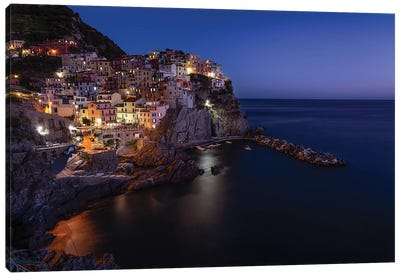 Manarola Blue Hour Canvas Art Print