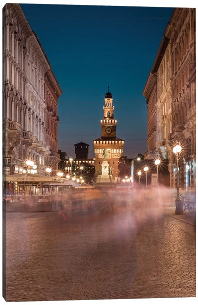 Milan Moving Canvas Art Print