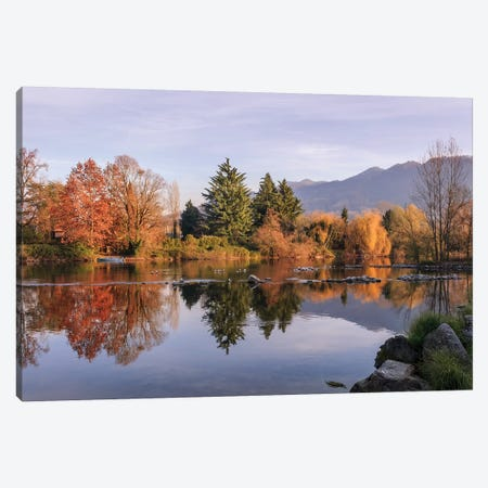 Autumn Reflections Canvas Print #AGN5} by Andrea Dall'Agnola Canvas Art