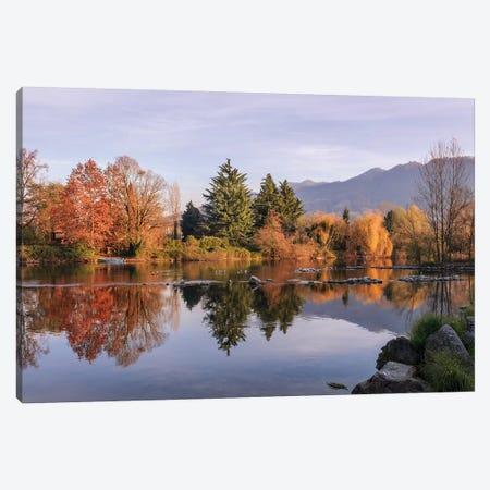 Autumn Reflections Canvas Print #AGN5} by Andrea Dall'Agnola Canvas Art