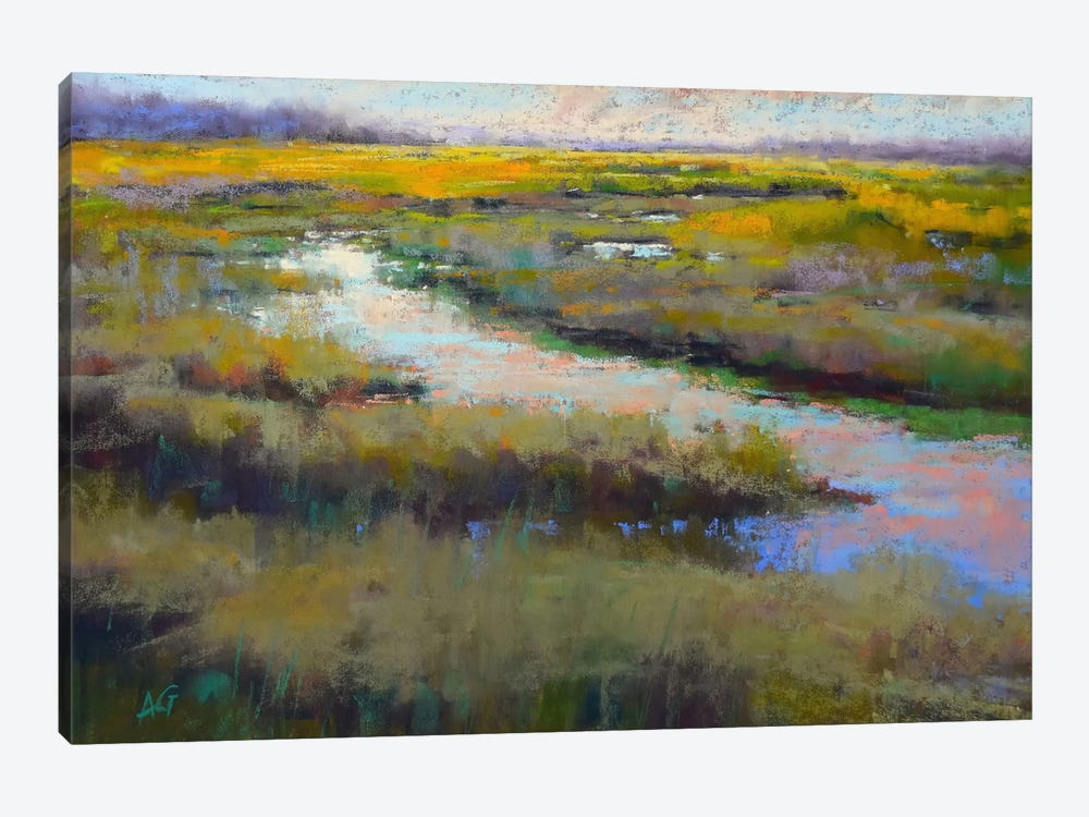 A Glimmer On The Marsh by Alejandra Gos 1-piece Canvas Wall Art