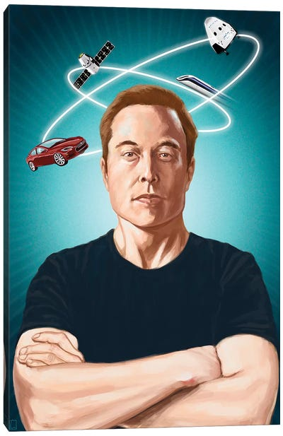 Elon Musk Canvas Art Print