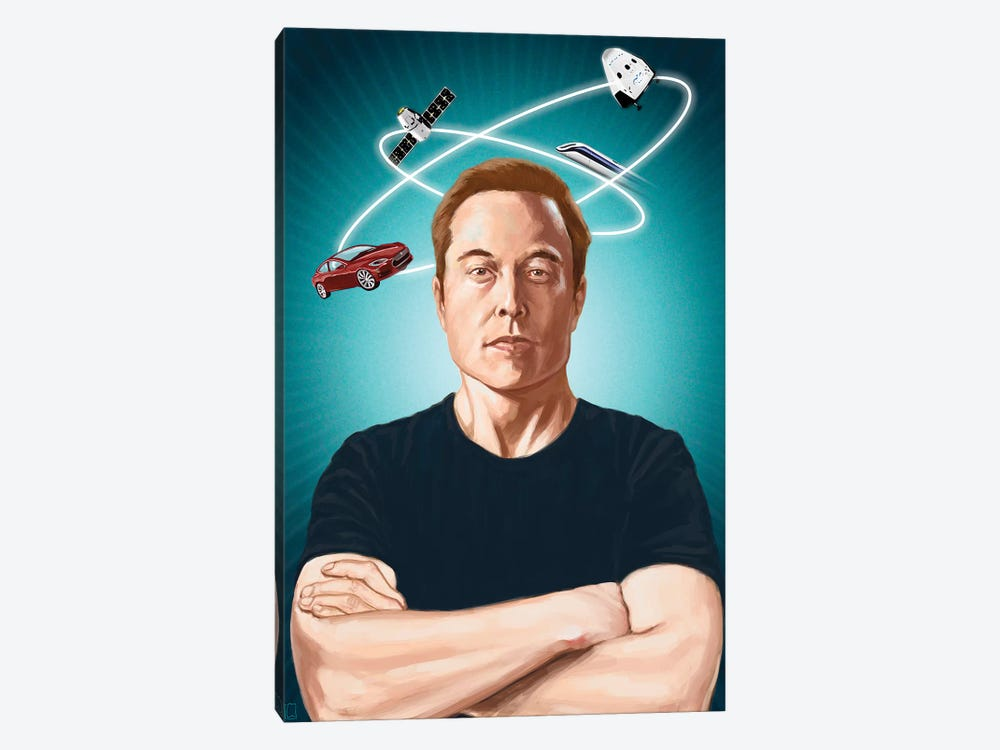 Elon Musk by Alexander Grahovsky 1-piece Canvas Artwork