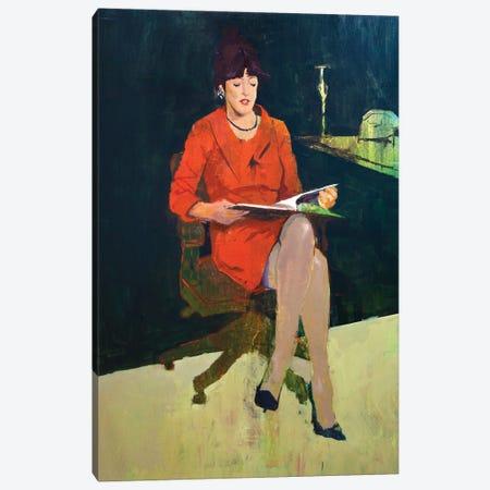 The Reader Canvas Print #AGR83} by Alexander Grahovsky Canvas Artwork