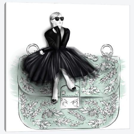 Mint Bag Canvas Print #AGS10} by Agata Sadrak Canvas Artwork