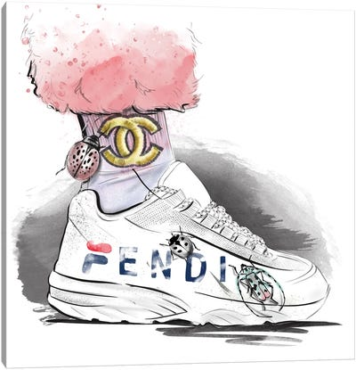 Fendi Sneakers Canvas Art Print