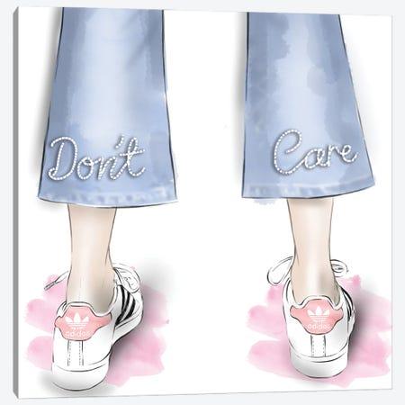Don't Care Canvas Print #AGS1} by Agata Sadrak Canvas Print