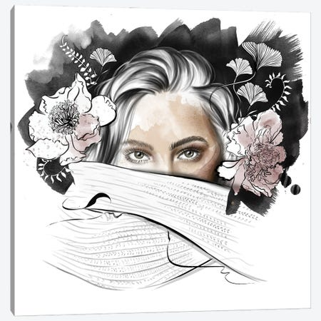 Peonies Canvas Print #AGS22} by Agata Sadrak Art Print