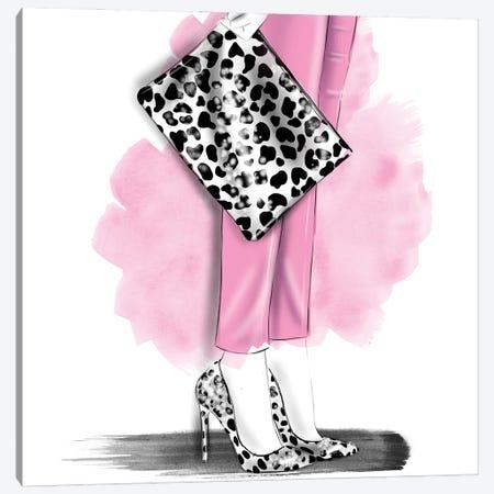 Leopard Set Canvas Print #AGS23} by Agata Sadrak Canvas Print