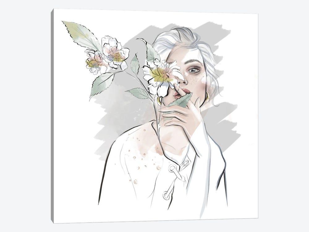 White Portrait by Agata Sadrak 1-piece Canvas Print