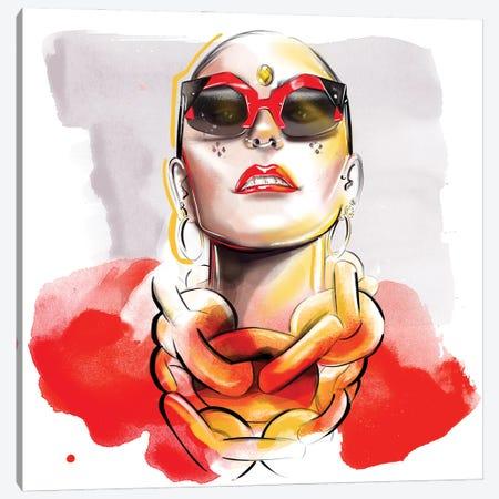 Red Canvas Print #AGS27} by Agata Sadrak Canvas Wall Art