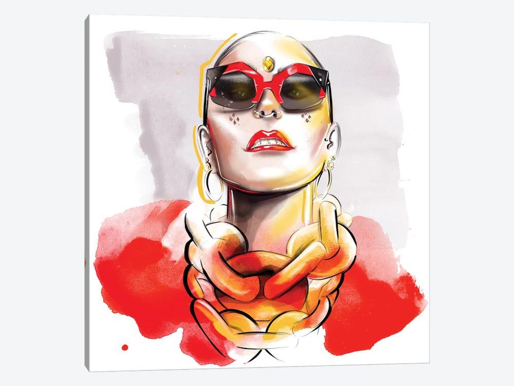 Red by Agata Sadrak 1-piece Canvas Wall Art