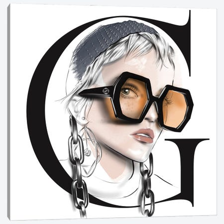 Gucci Canvas Print #AGS29} by Agata Sadrak Art Print