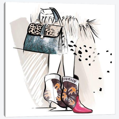Miu Miu Canvas Print #AGS2} by Agata Sadrak Canvas Art Print