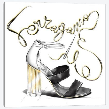 Ferragamo Canvas Print #AGS30} by Agata Sadrak Canvas Artwork
