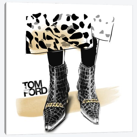 Tom Ford Canvas Print #AGS35} by Agata Sadrak Canvas Art Print