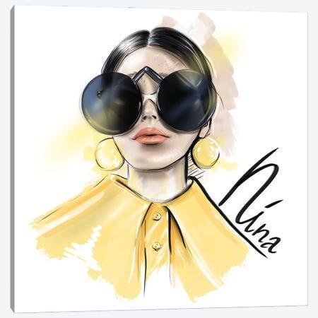 Nina Canvas Print #AGS36} by Agata Sadrak Canvas Print